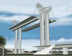 maquette du pont levant de rouen